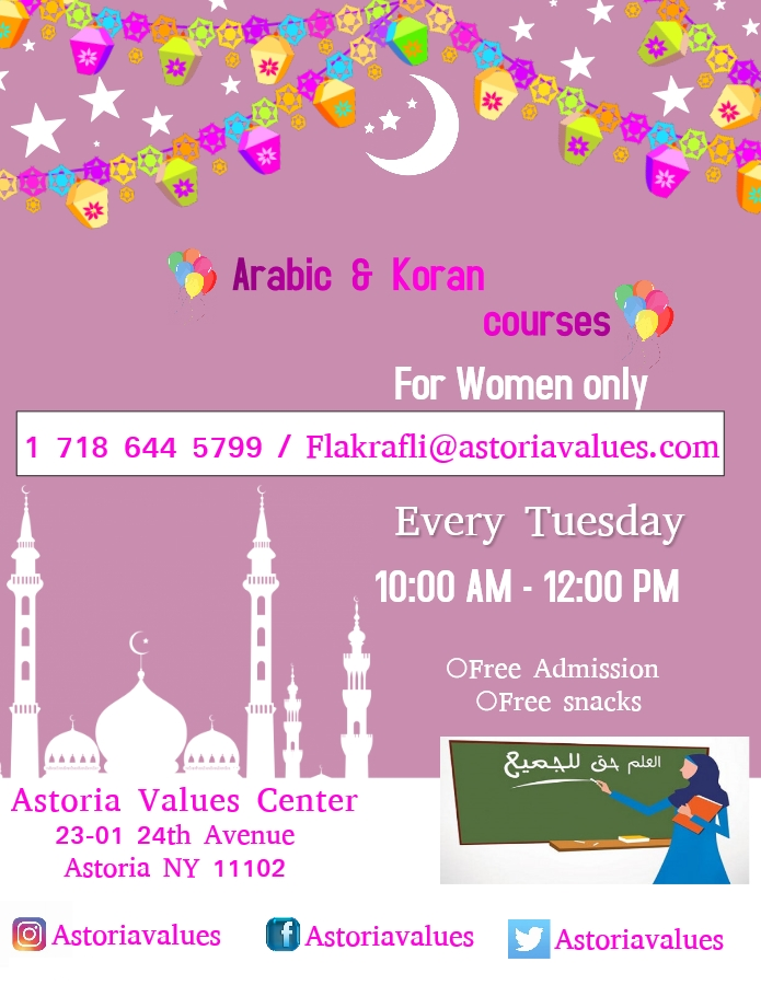 Arabic & Koran Courses For Women